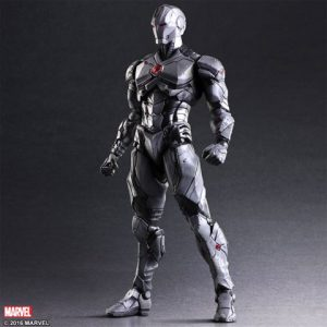 Iron Man: Iron Man Variant Play Arts Kai Action Figure (Limited Color) (War Machine Themed)