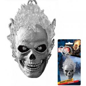 Key Chain: Marvel - Ghost Rider Gray Pewter