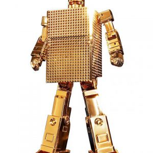 Gold Lightan: Gold Lightan GX-32R 24-Karat Gold Plating Ver. Soul Of Chogokin Action Figure