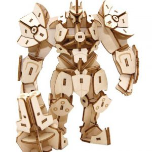 Overwatch: Reinhardt 3D Wooden Model Figure w/ Poster