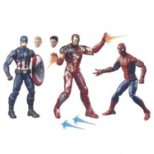 Captain America Civil War: Civil War 6'' Action Figures (3-Pack) (Captain America, Iron Man, Spider-Man)