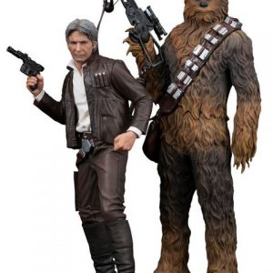 Star Wars: Force Awakens - Han Solo & Chewbacca ArtFX+ 1/10 Scale Figures (Set of 2)