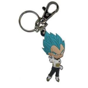 Key Chain: Dragon Ball Super - SD Super Saiyan Blue Vegeta Pose