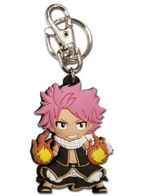 Key Chain: Fairy Tail - SD Natsu Fired Up