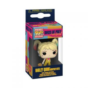 Key Chain: Birds of Prey: Harley Quinn (Boobytrap Battle) Pop Vinyl