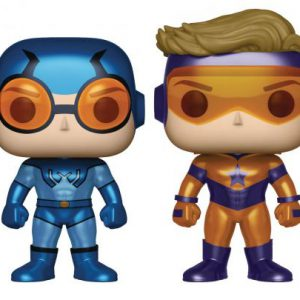 DC Comics: Blue Beetle (Ted Kord) & Booster Gold PX Exclusive Pop Vinyl Figures (2-Pack) (Metallic)