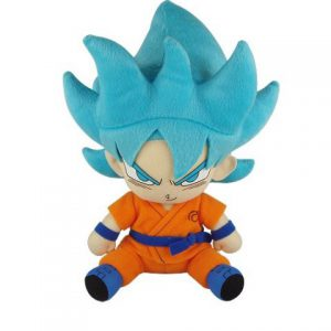 Dragon Ball Super: Super Saiyan Blue Goku Sitting Plush (Ressurection of F)