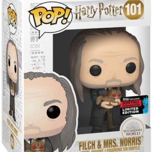 Harry Potter: Filch (Yule) w/ Mrs. Norris Pop Figure (2019 Fall Convention Exclusive)