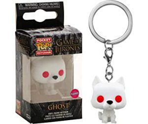 Key Chain: Game of Thrones - Ghost (Flocked) Pocket Pop (Special Edition)