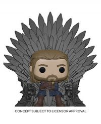Game of Thrones: Iron Anniversary - Ned Star on Iron Throne Deluxe Pop Figure