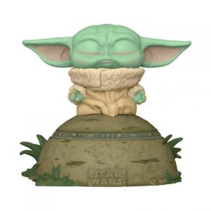 Star Wars: Mandalorian - Grogu (The Child) Using the Force Deluxe Movie Moment Pop Figure (Lights and Sound)