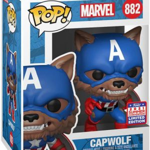 Captain America: Year of the Shield - Capwolf Pop Figure (2021 Summer Convention Exclusive)