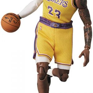 NBA Stars: Lebron James (Lakers Gold) MAFex Action Figure